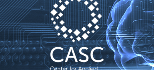 abstract graphic of a brain and network overlaid with the CASC logo