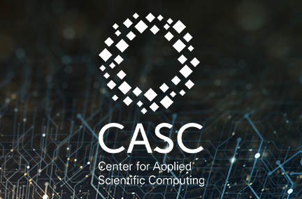 CASC logo overlaid on abstract graphic of networks connected as lines