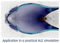application in a practical ALE simulation