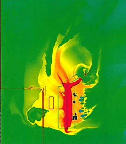 ARES simulation of a StrRT target with a 1 MJ drive.